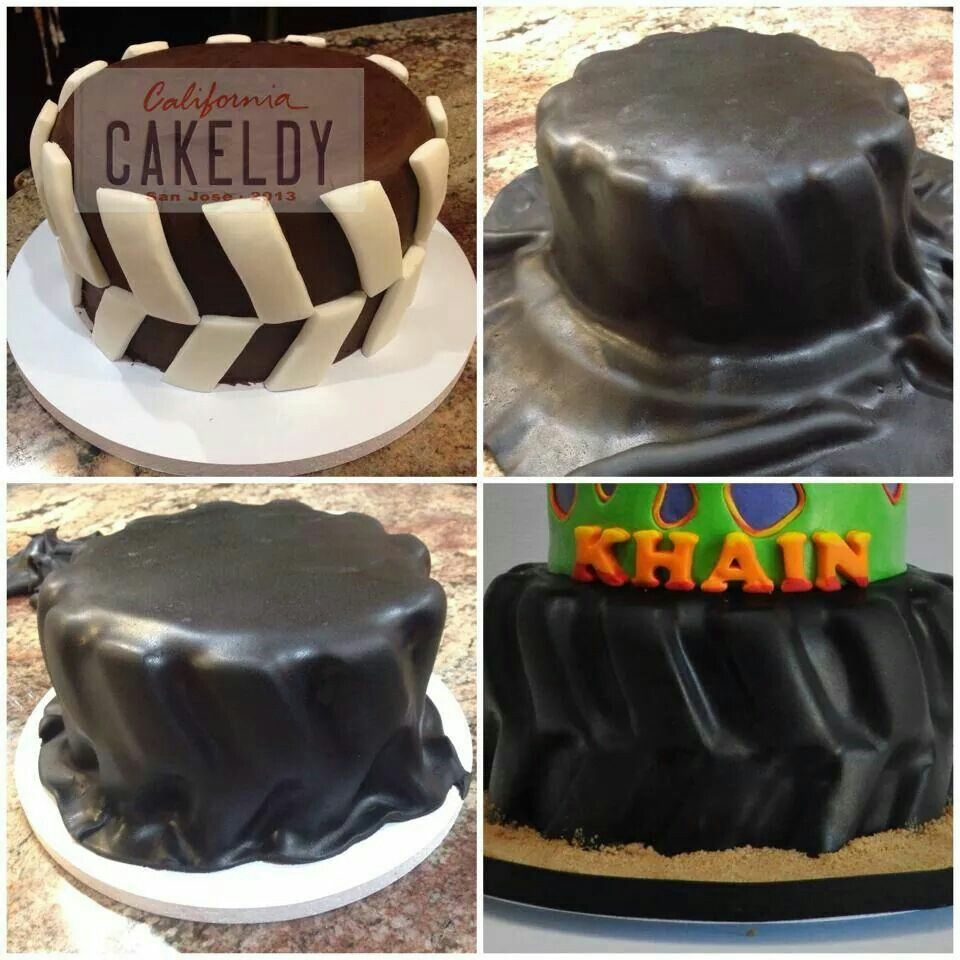 How To Make A Tyre Cake Tire Cake Cool Cake Designs Cake Servings