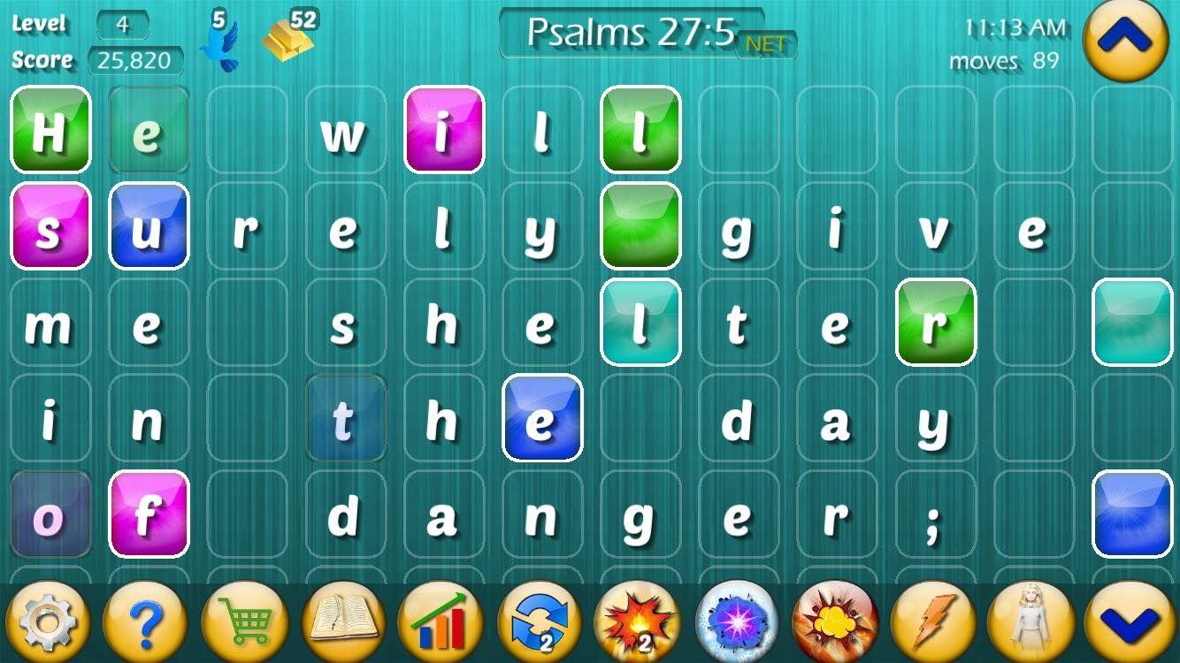 Play the Bible game screenshot of Psalms 275. Bible