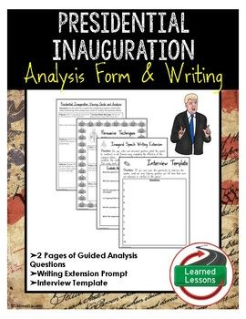 Presidential Inauguration Viewing Guide Analysis And Writing