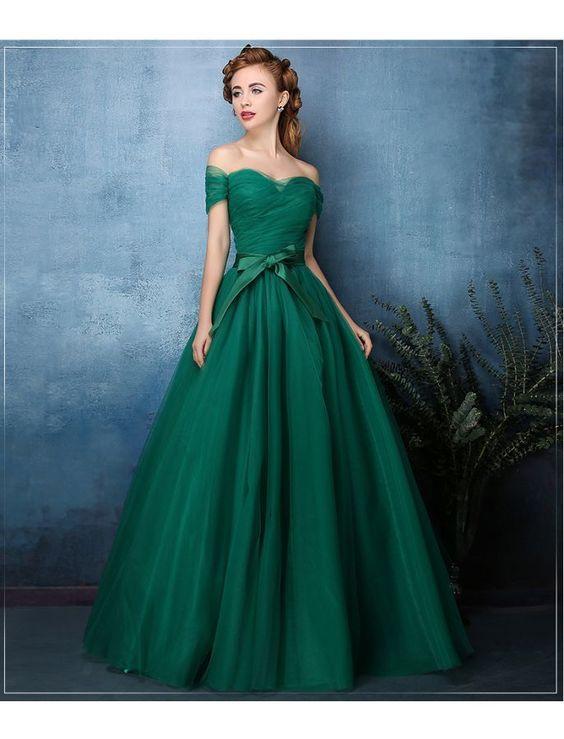 Modest Quinceanera Dress,Hunter Green Blue Ball Gown,Fashion Prom ...
