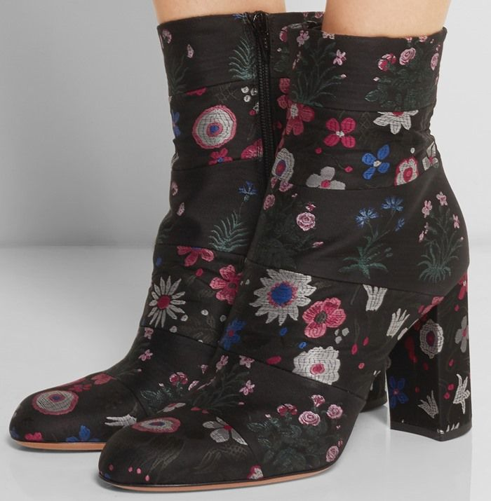 Valentino Spring Garden Leather Ankle Boots best sale online new FcGBQtdxKx