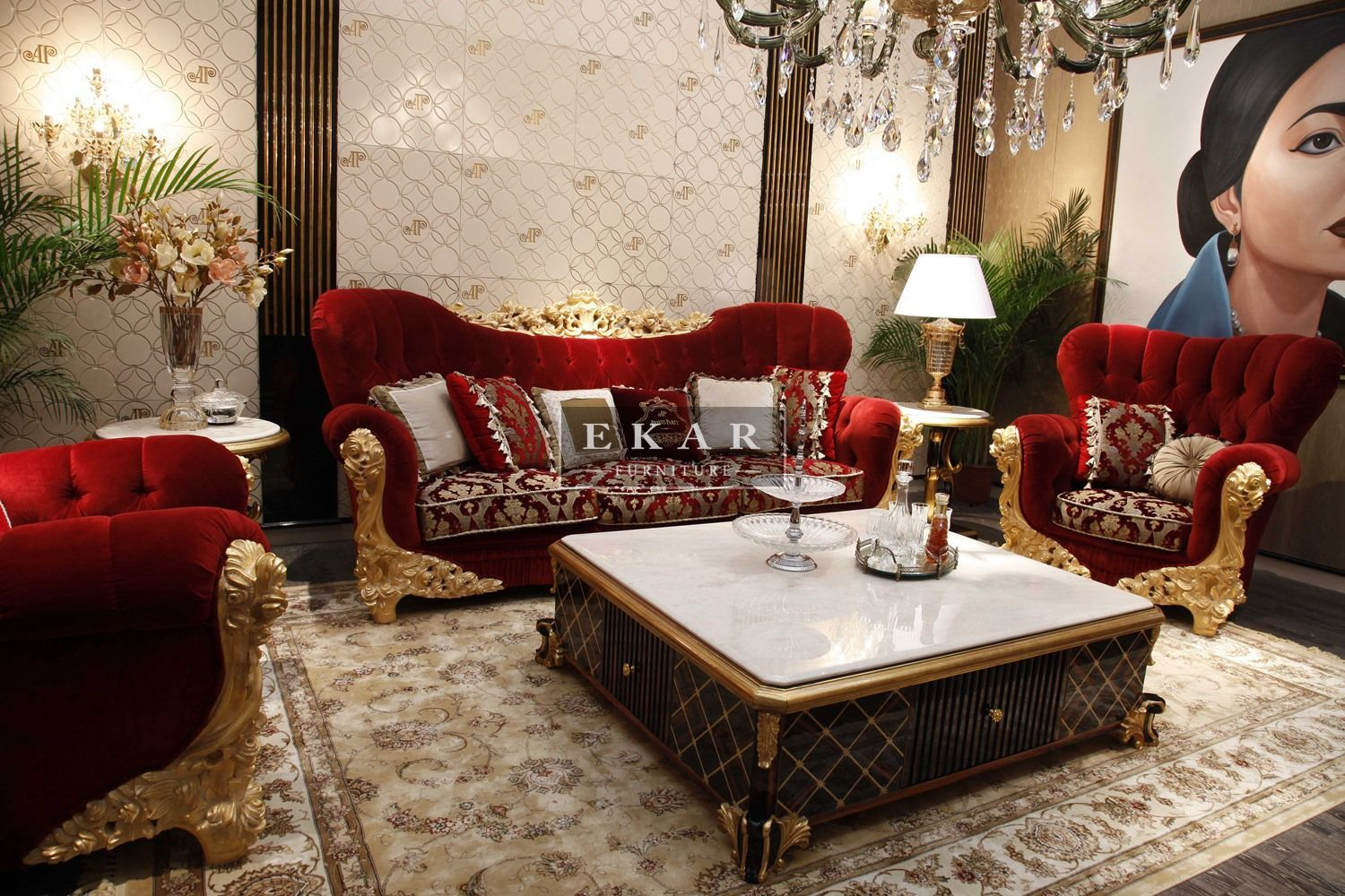 sofa furniture manufacturers. Ekar-furniture-rococo-style-red-sofa-set - Sofas Sofa Furniture Manufacturers