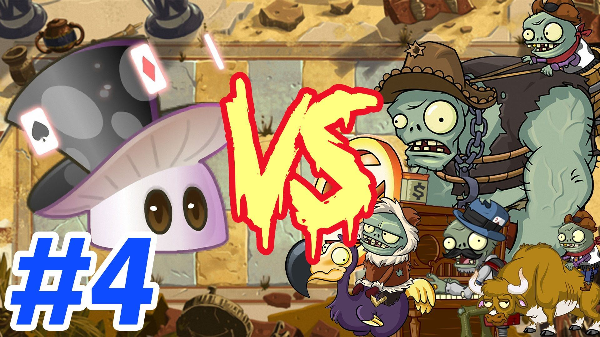 Plants Vs Zombies 2 Chinese Magic Mushroom Vs Team Gargantuar