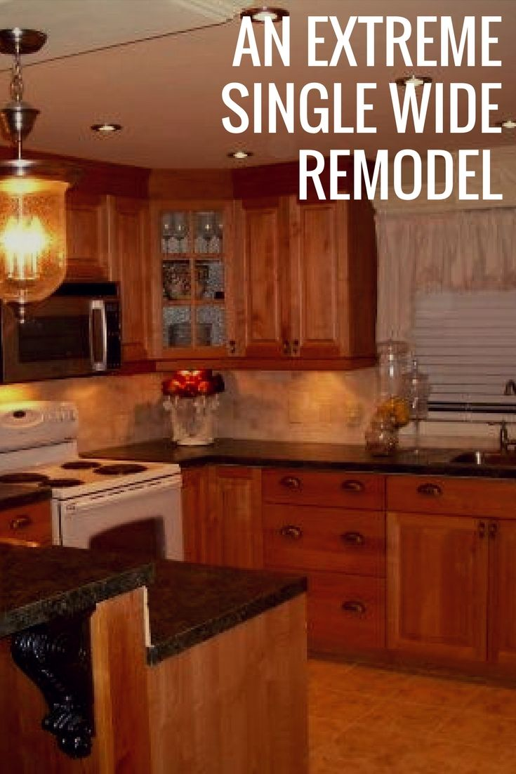 Extreme Single Wide Home Remodel is part of Extreme Single Wide Home Remodel Mobile Home Living - This extreme single wide home remodel is beautiful  From a single wide to a huge home  Before and after photos and great ideas, You'll wanna see this!