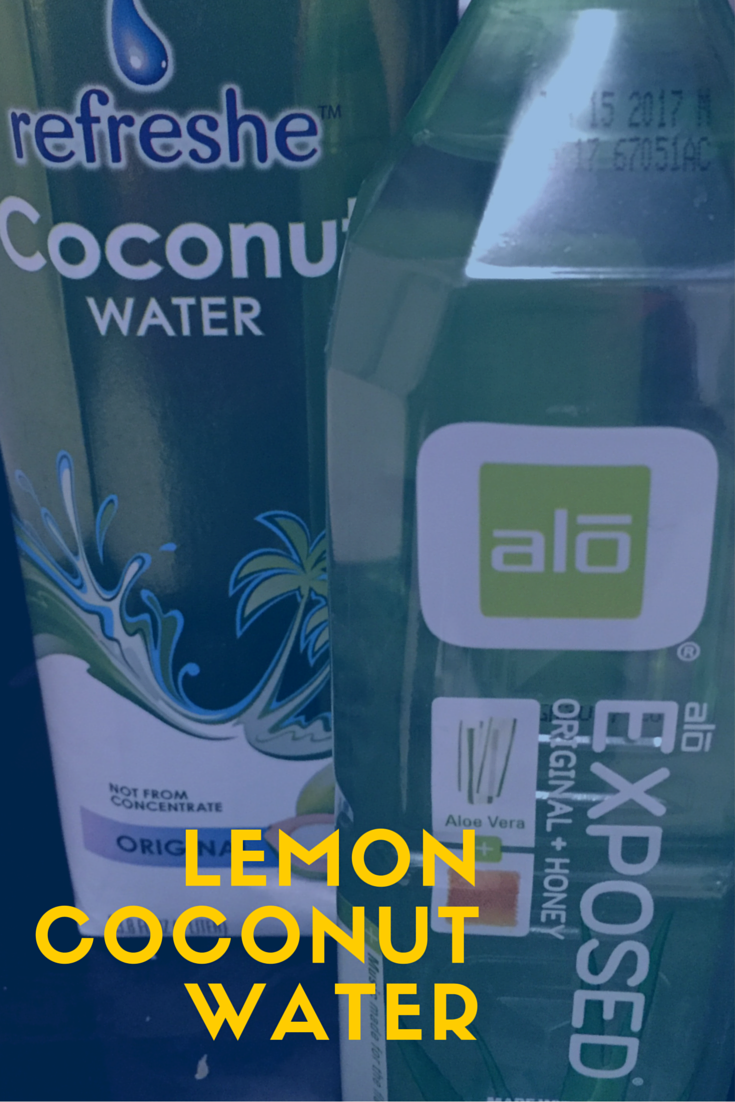 Lemon Coconut Detox Water.