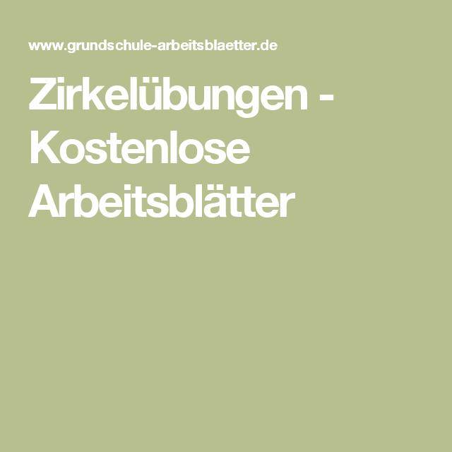 Zirkelübungen - Kostenlose Arbeitsblätter | Mathe | Pinterest ...