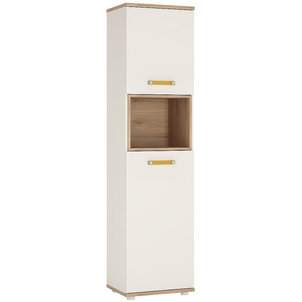 High Gloss Storage Cabinets 4 Kids Tall 2 Door Cabinet In Light Oak And White High Gloss Is An