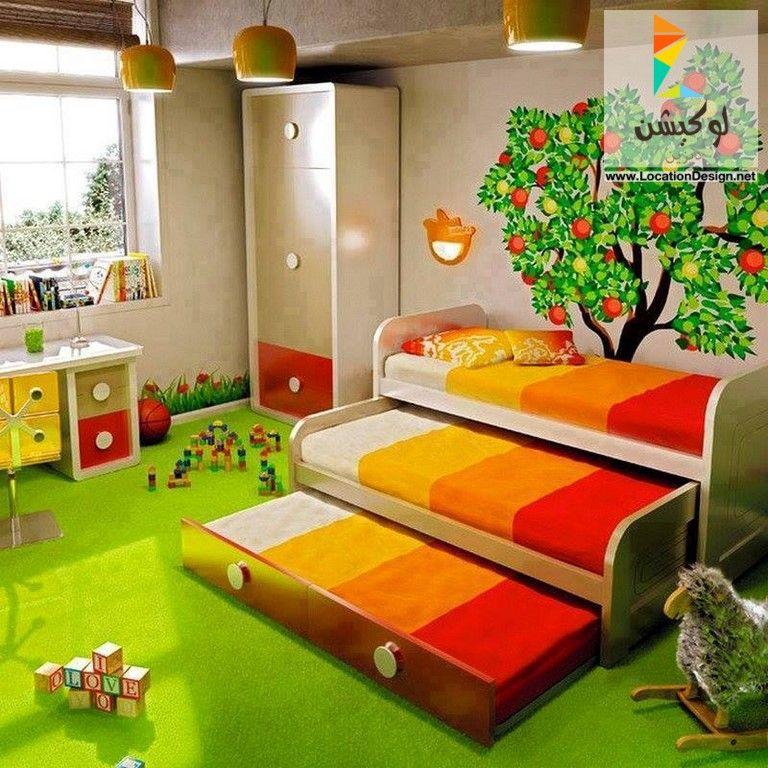أحدث ديكورات غرف نوم اطفال بسريرين 2019 2020 Cool Girl Bedrooms Shared Girls Room Girl Bedroom Decor