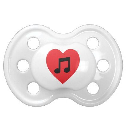 #teacher - #Music Note Heart Pacifier