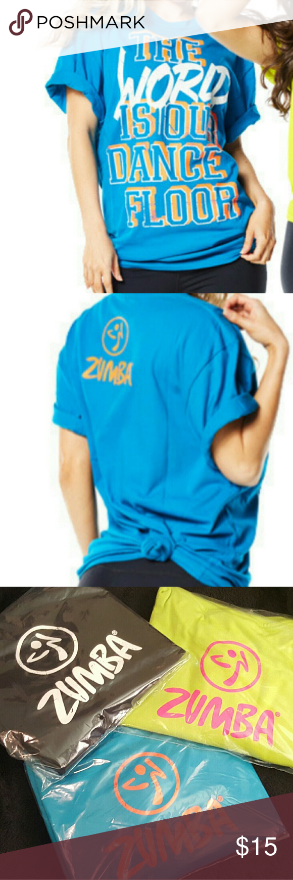241e66fdc Zumba t-shirts sale The World is our Dance floor One size fits the most  zumba Tops Tees - Short Sleeve