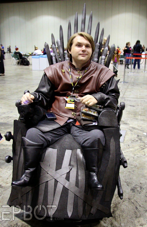 Iron Throne Wheelchair Costume Epbot Megacon 2014 Part