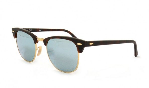 664d199e4d1 Neue Ray Ban Clubmaster RB3016 1145-30 51 Sand Havana Gold Light Green  Mirror Silver.