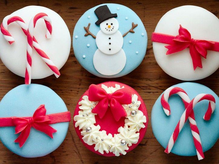 Biscotti Natale Pasta Di Zucchero.Cupcake Di Natale Con Pasta Di Zucchero Cookie Ideas