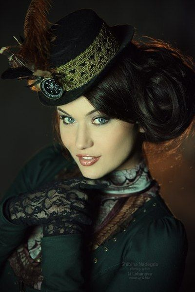 .Steampunk Girl. Check out http://www.designyourownperfume.co.uk to create your own custom fragrance to compliment your quirky Steampunk style... #Steampunk