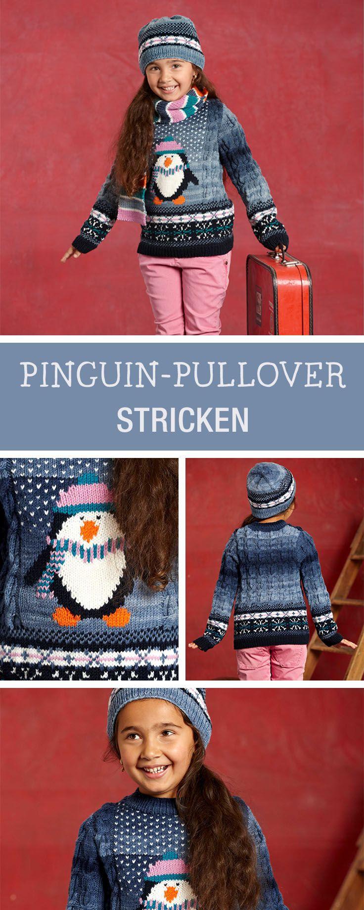 Contemporary Pinguin Strickmuster Component - Decke Stricken Muster ...