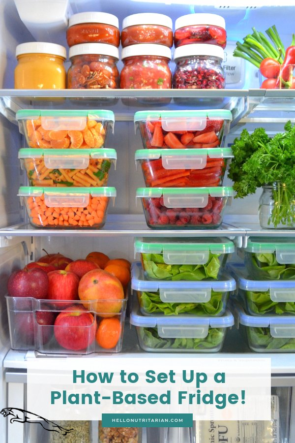 The Eat To Live Fridge By Hello Nutritarian Learn All My Tips For Cleaning Out Setting Up And Storin The In 2020 Healthy Fridge Fridge Shopping Whole Food Recipes