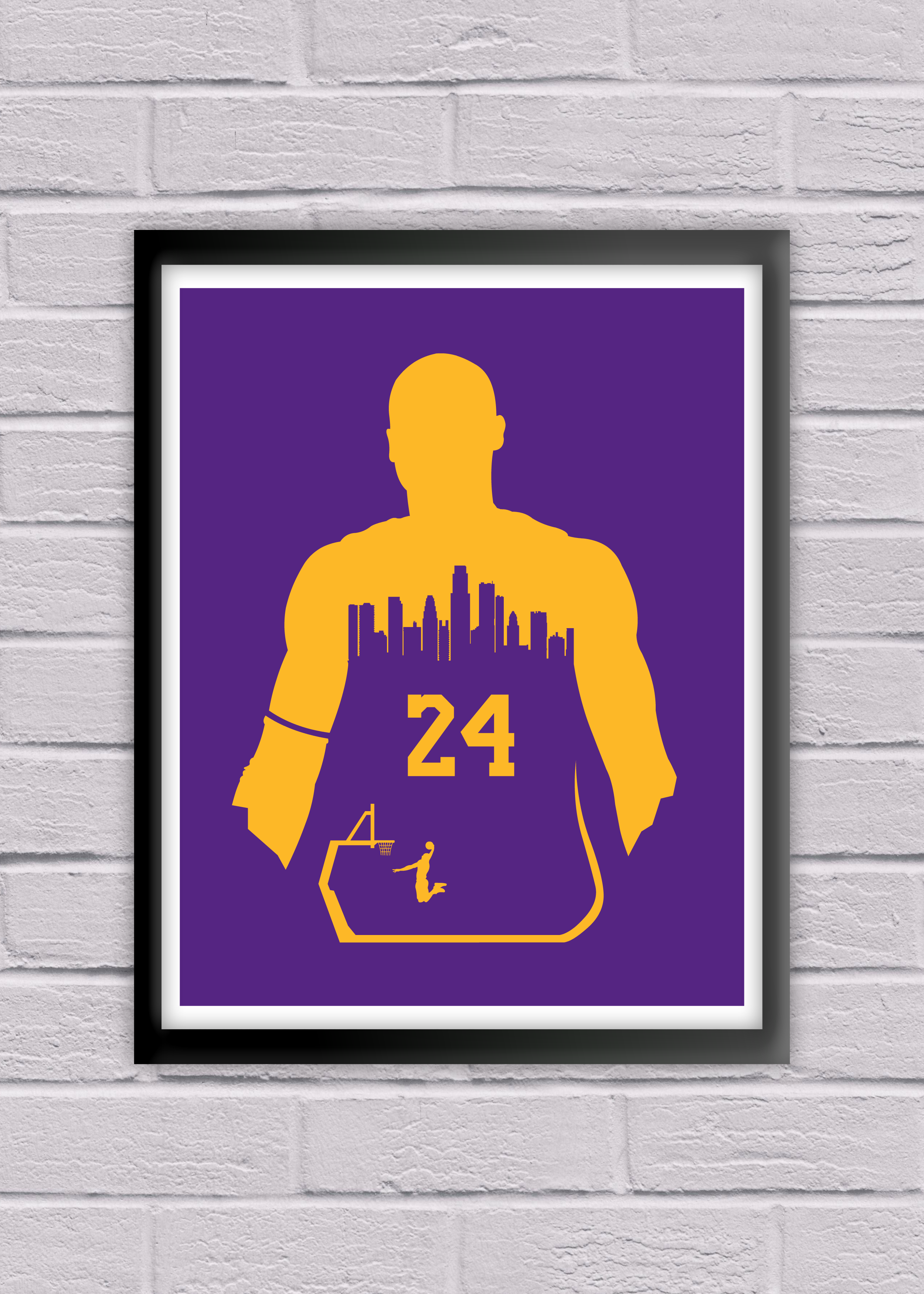 Kobe Bryant 24 Los Angeles Lakers Poster Print Nba Nation Basketball Ociation Sports Fan Minimalist