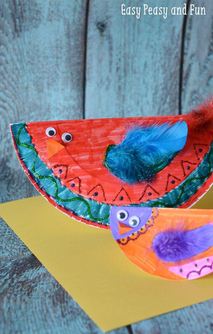 Paper Plate Bird Craft Paper Plate Crafts Activities For Kids