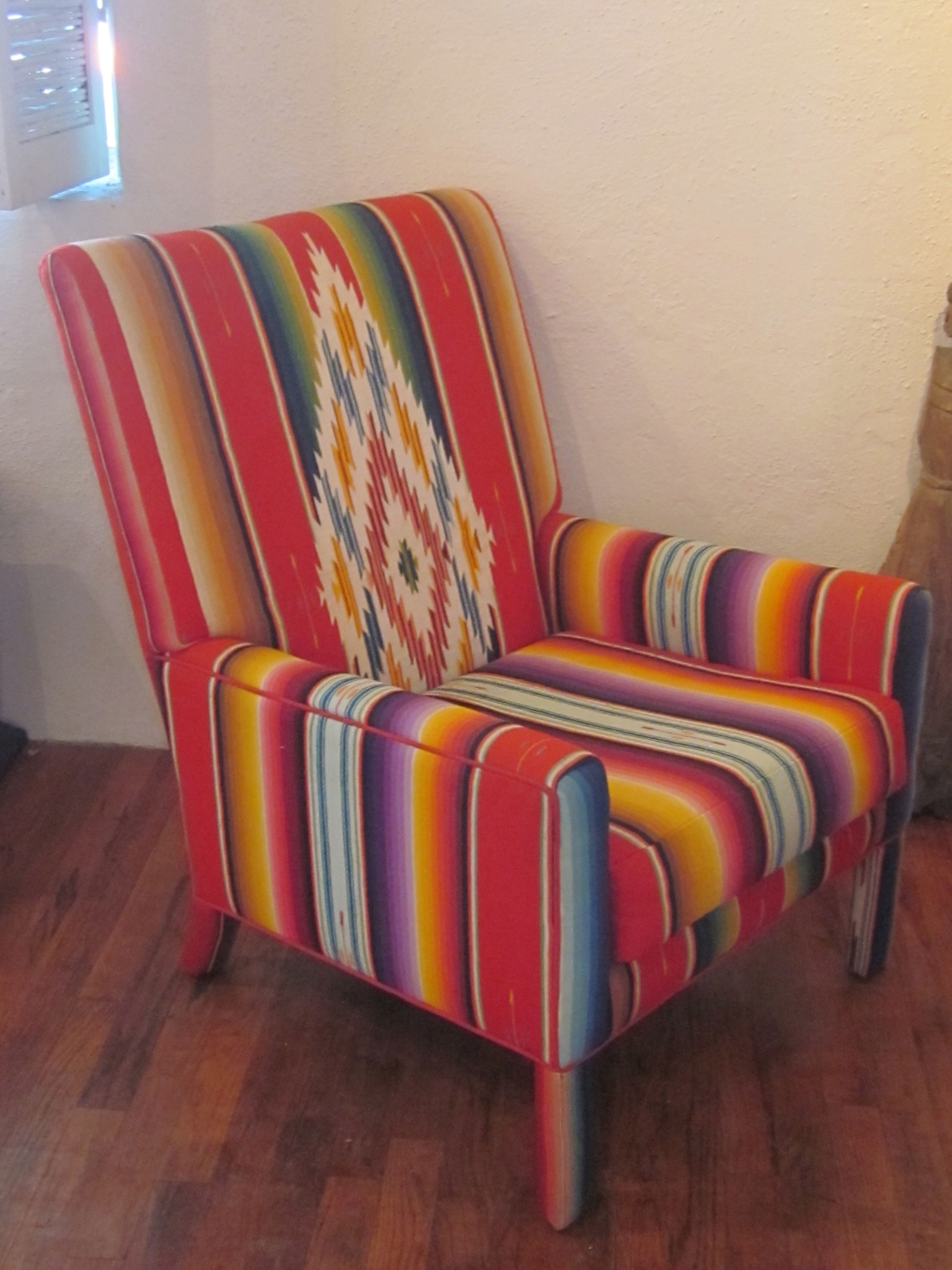 Superieur Chair Upholstered In Vintage Zarape