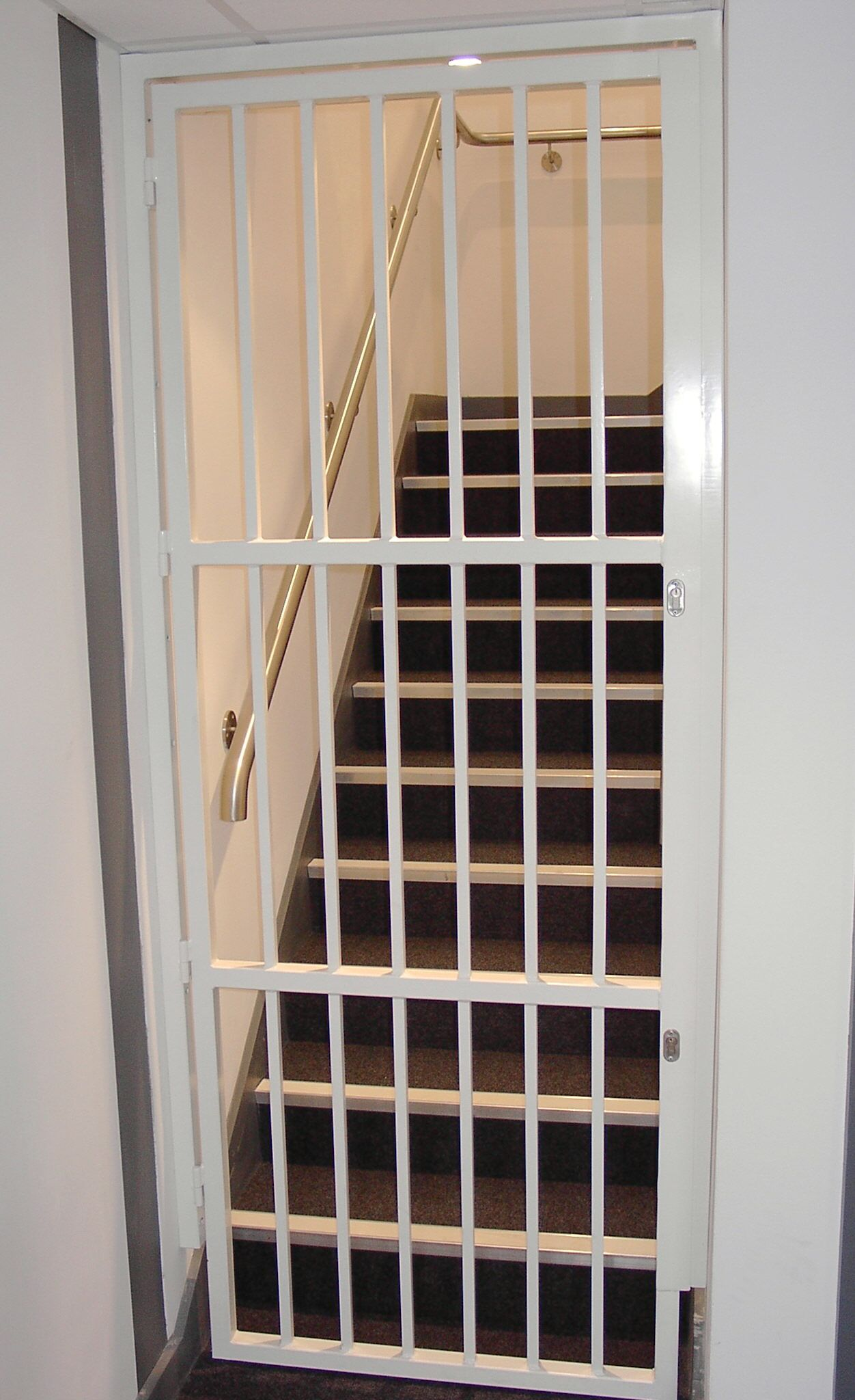 RSG3000 Security Bar Gate Fitted To The Staircase Of A Residential Flat In  Surrey.