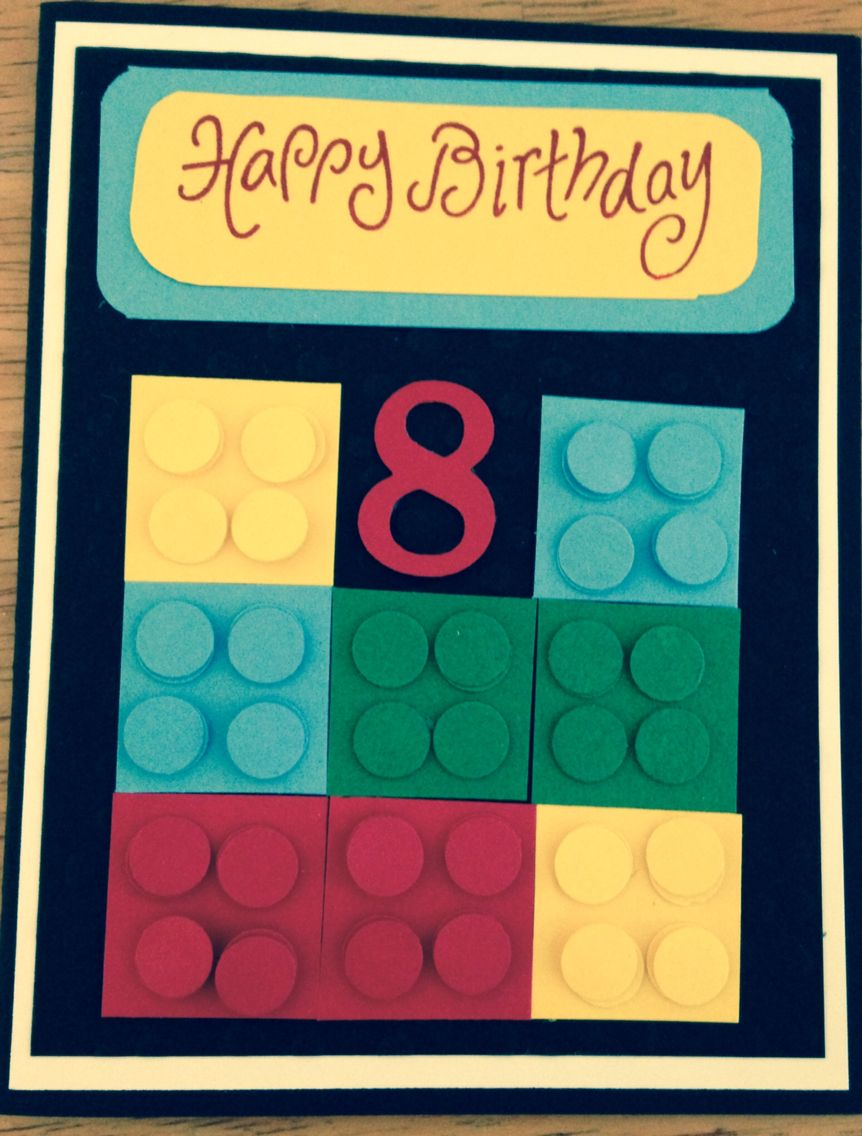 Lego Card For 8 Year Old With Images Lego Card Birthday Cards