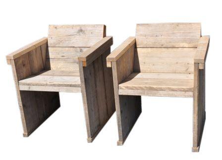 Lounge Stoel Gebruikt.Eettafel Stoel Met Een Schuine Rug Leuning Van Oud Gebruikt