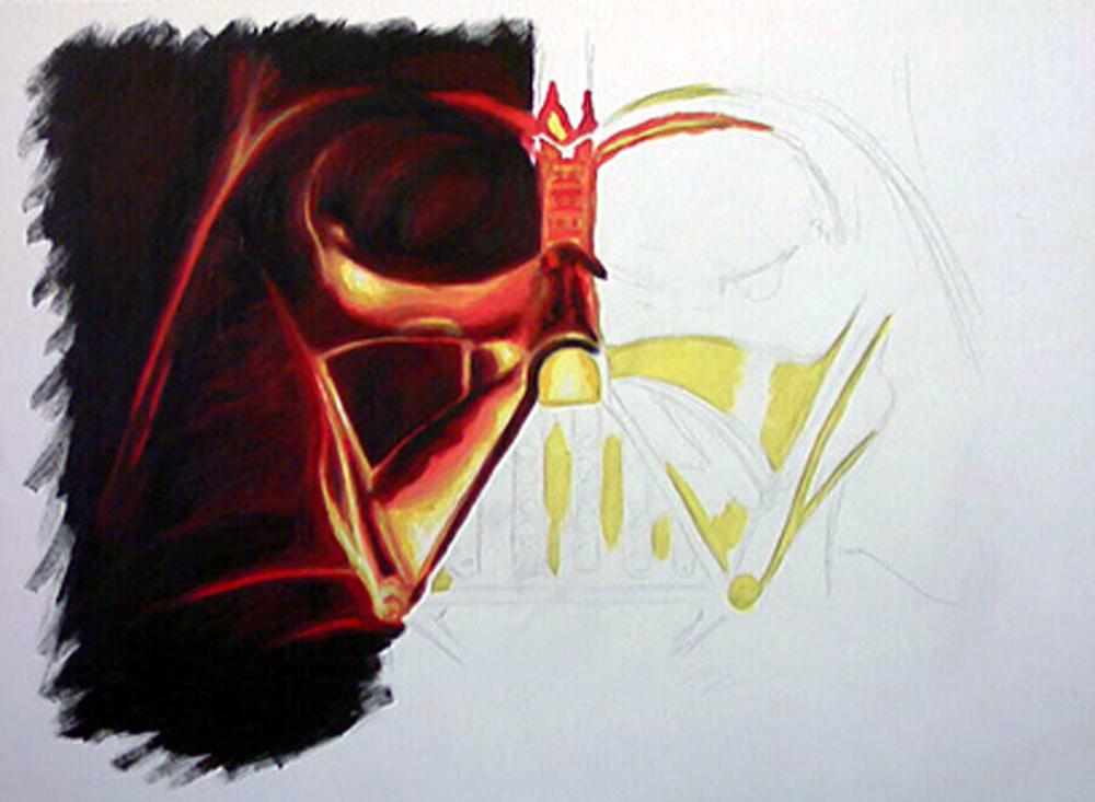 Gemälde von Darth Vader - unvollendet