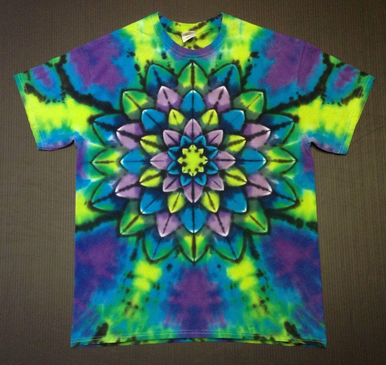 Tie Dye Shirt Tie Dyed Shirt Tiedye Shirt Rainbow Tie Dye Tie