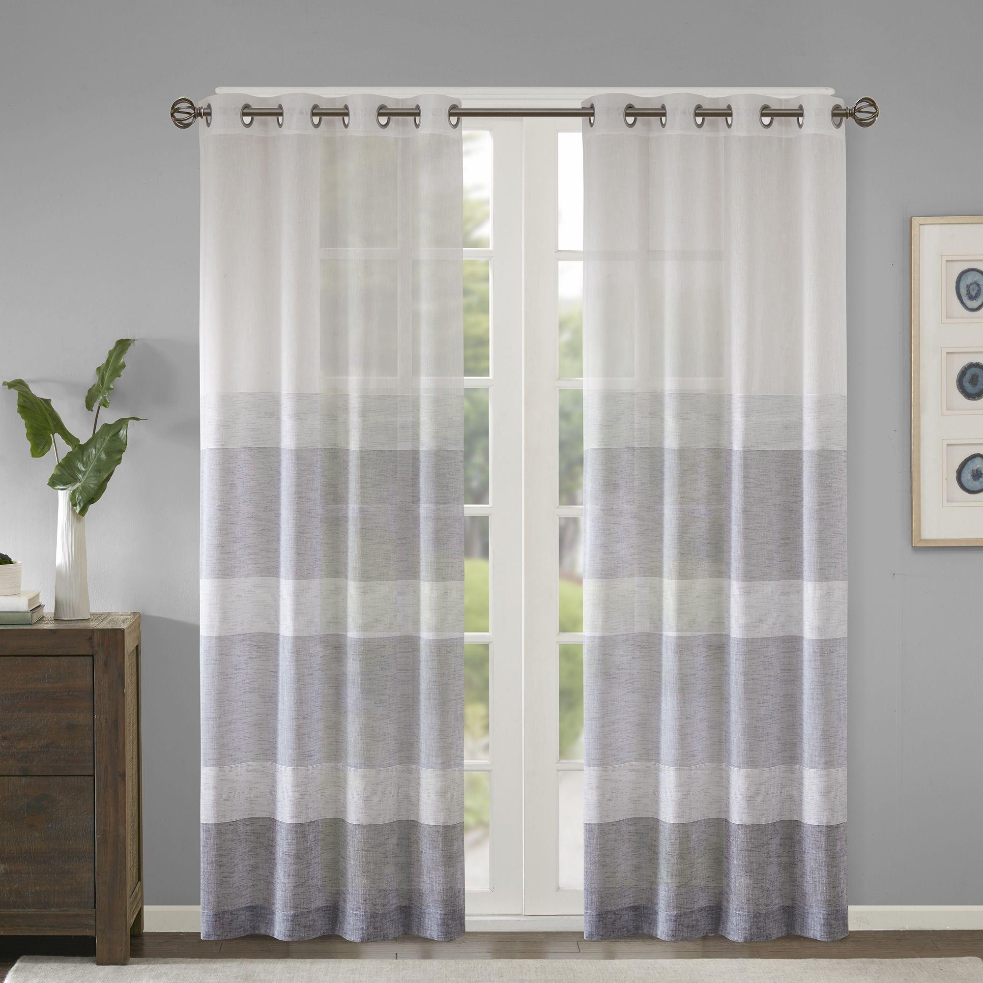 Madison Park Jasper Woven Sheer Curtain Panel 118 Dowse