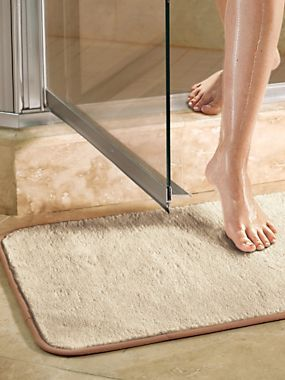 Microfiber Bath Mat Shower Bathroom Rug Silky Soft Soaks Up Water Like A Sponge Bare Feet Will Love Stepping Out Of The Onto This
