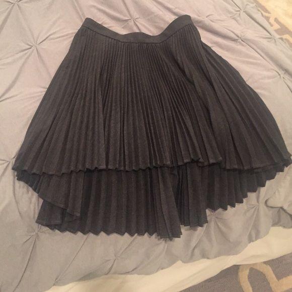 Cushnie Et Ochs pleated gray skirt size 6 women's designer Luxury VGUC runway #cushnieetochs #hilo
