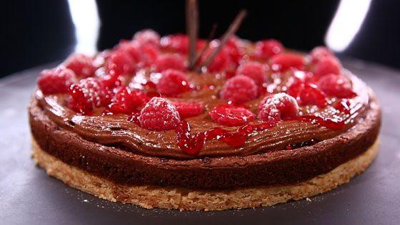 Tarte au chocolat et la framboise par patrick chevallot recettes dans la peau d 39 un chef - Commis de cuisine suisse ...