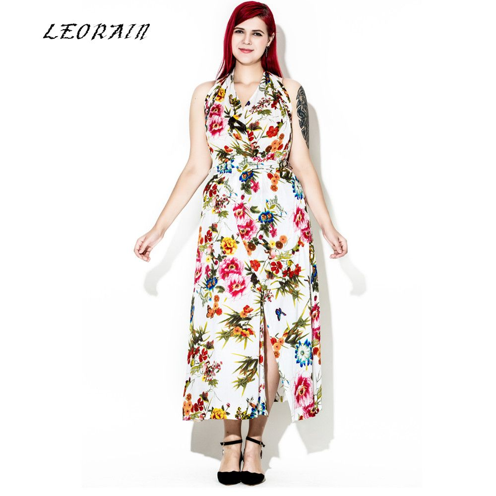 Click to buy ucuc summer bohemia plus size maxi party dress sexy