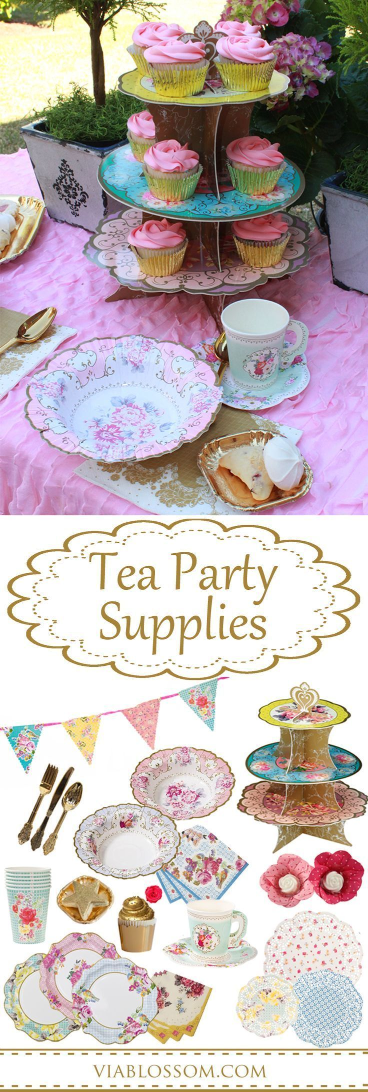 bridal shower teparty decorations%0A The most adorable Tea Party ideas for an afternoon Tea  a girl birthday  party
