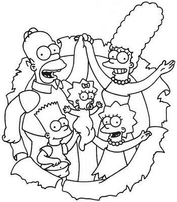 Desenhos Para Colorir Simpsons Com Imagens Desenhos Infantis