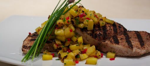 grilled mahi mahi with pineapple chili salsa  grilled