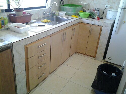 Mueble De Lavatrastos Con Cemento Y Azulejo Busqueda De Google Cocina De Concreto Diseno De Gabinete De Cocina Muebles De Cocina