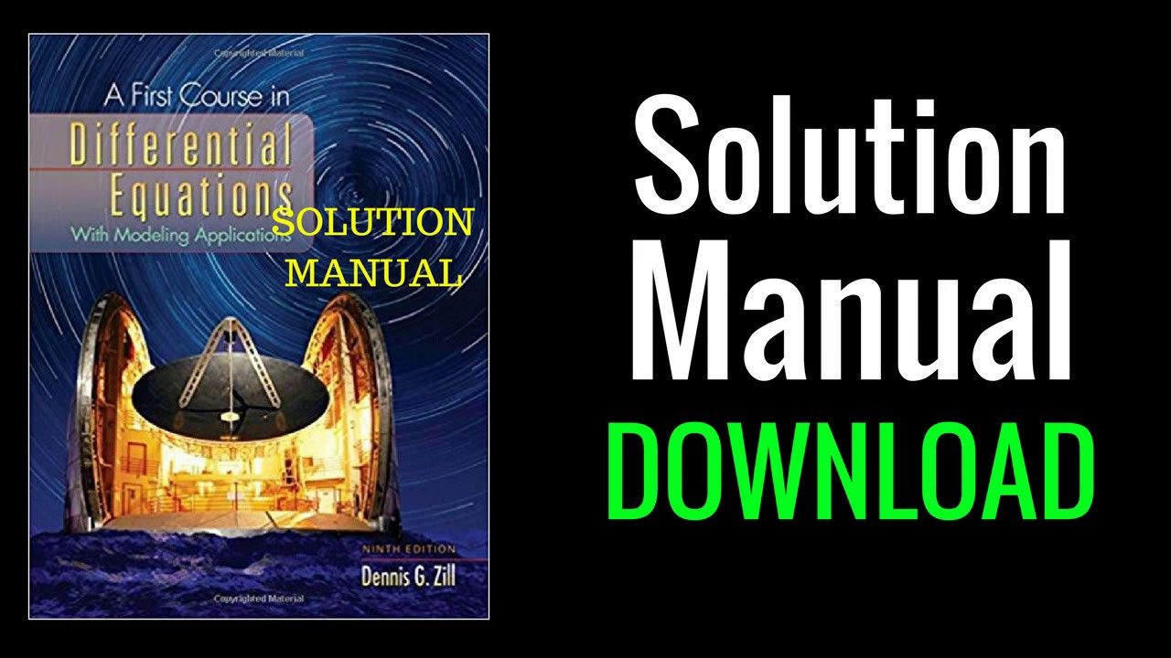 differential equations by zill 7th edition solution manual pdf free  download Array - solutions manual for a first course in differential  equations 9th rh ...