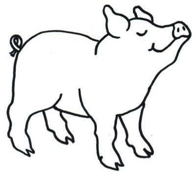 Animales De Granja Dibujos Para Colorear Paperblog Animales De La Granja Arte Del Cerdo Artesanias De Cerdo