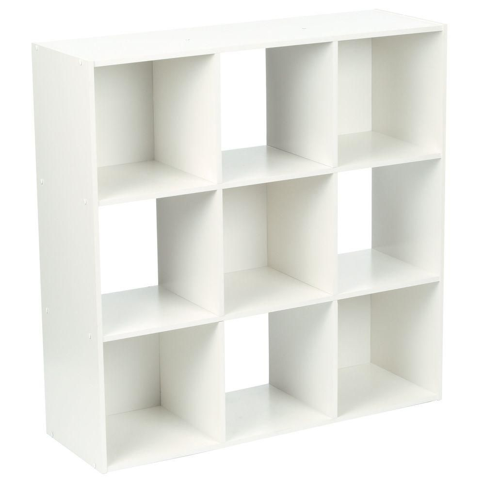 Martha Stewart Living 36 In X 36 In White Stackable 9 Cube Organizer 4904 The Home Depot Cube Shelving Unit Cube Storage Unit Cube Organizer