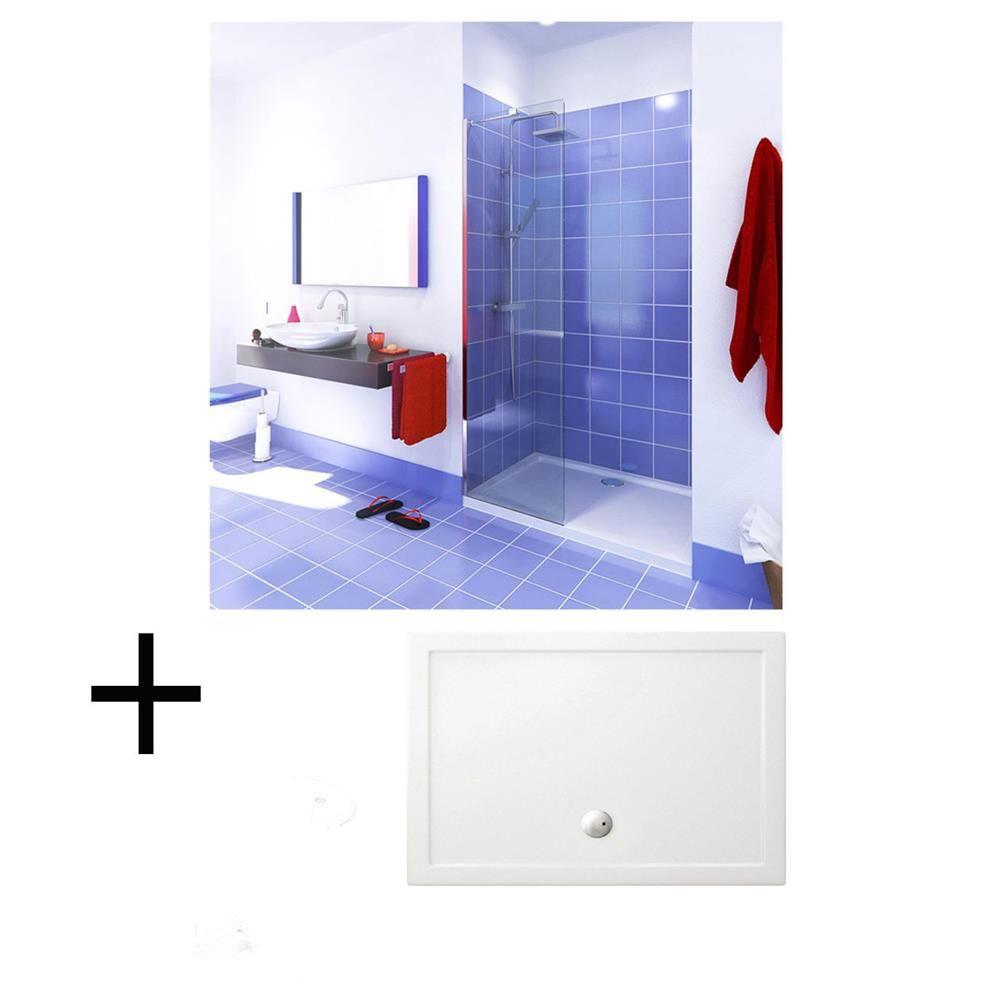 lot paroi de douche fixe 100 cm receveur en r sine 170 cm bainissimo l che vitrine pinterest. Black Bedroom Furniture Sets. Home Design Ideas