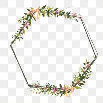 Floral Border Frame Romantic Pink Line Floral Border Design Flower Border Png Flower Border