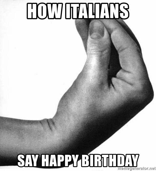How Italians Say Happy Birthday - Italian Hand