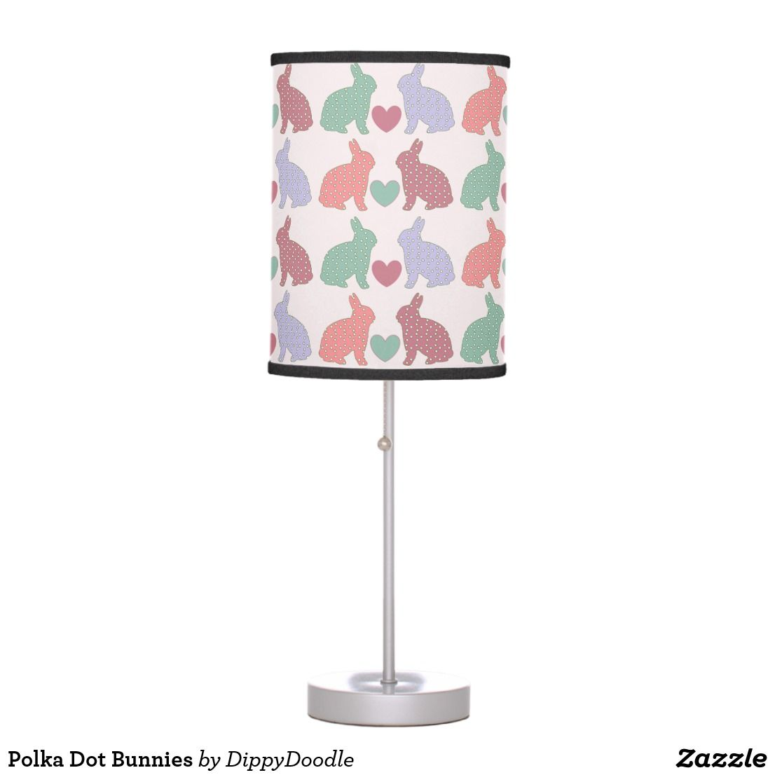 Polka Dot Bunnies Desk Lamp