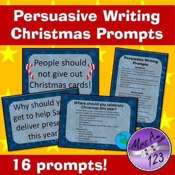 Persuasive Writing Christmas Prompts | Persuasive writing, Prompts ...