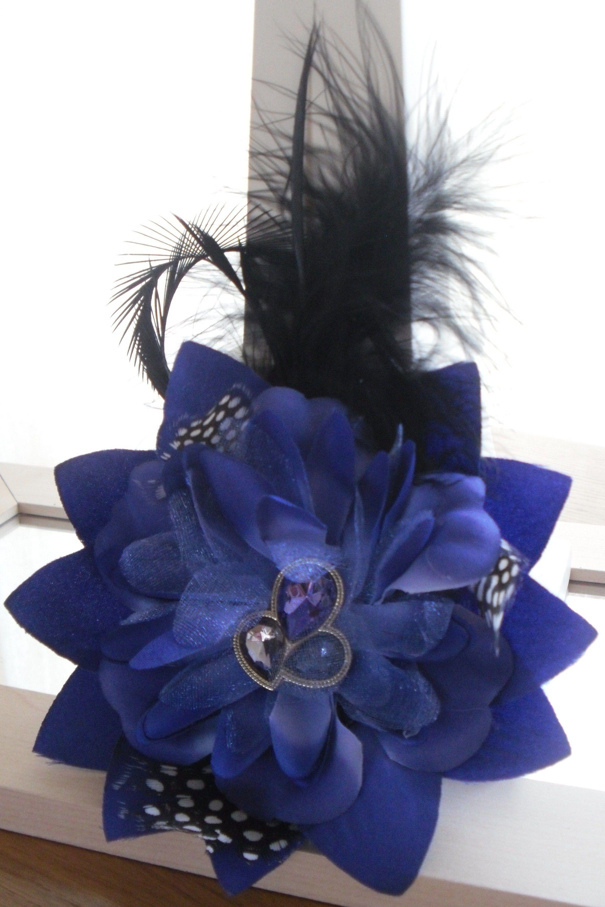 blue and black hair accessory | hair accessories | hair
