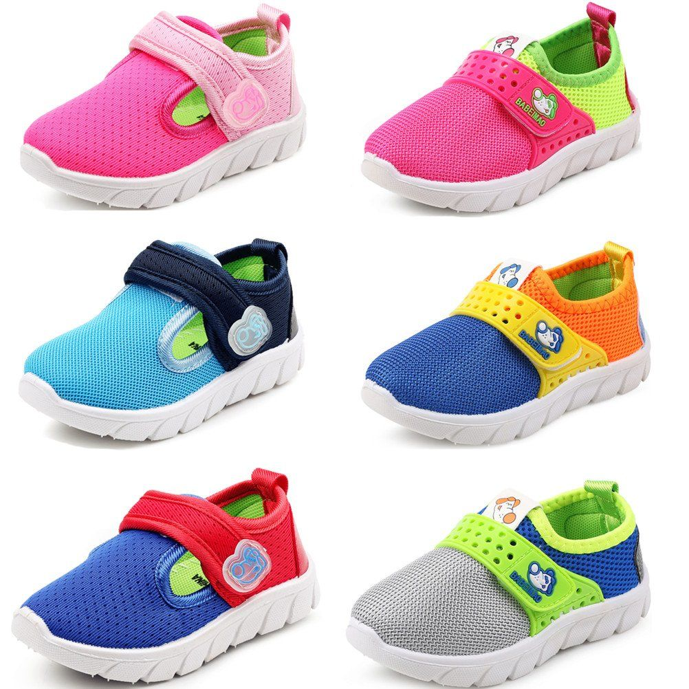 DADAWEN Baby's Boy's Girl's Breathable Strap Light Weight Sneakers Casual Running Shoes Rose Red US Size 1 M Little Kid eyDIg