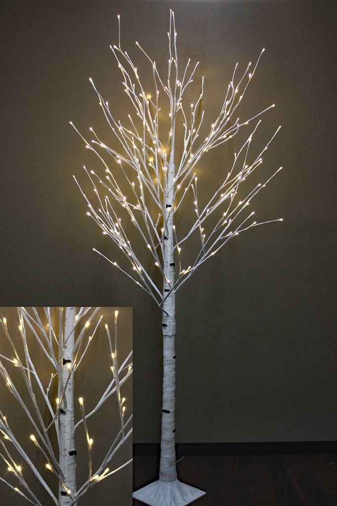 8 Foot White Birch Tree 240 Warm Led S From The Light Garden