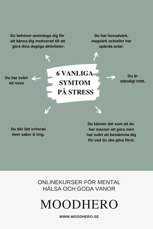 symtom på stress