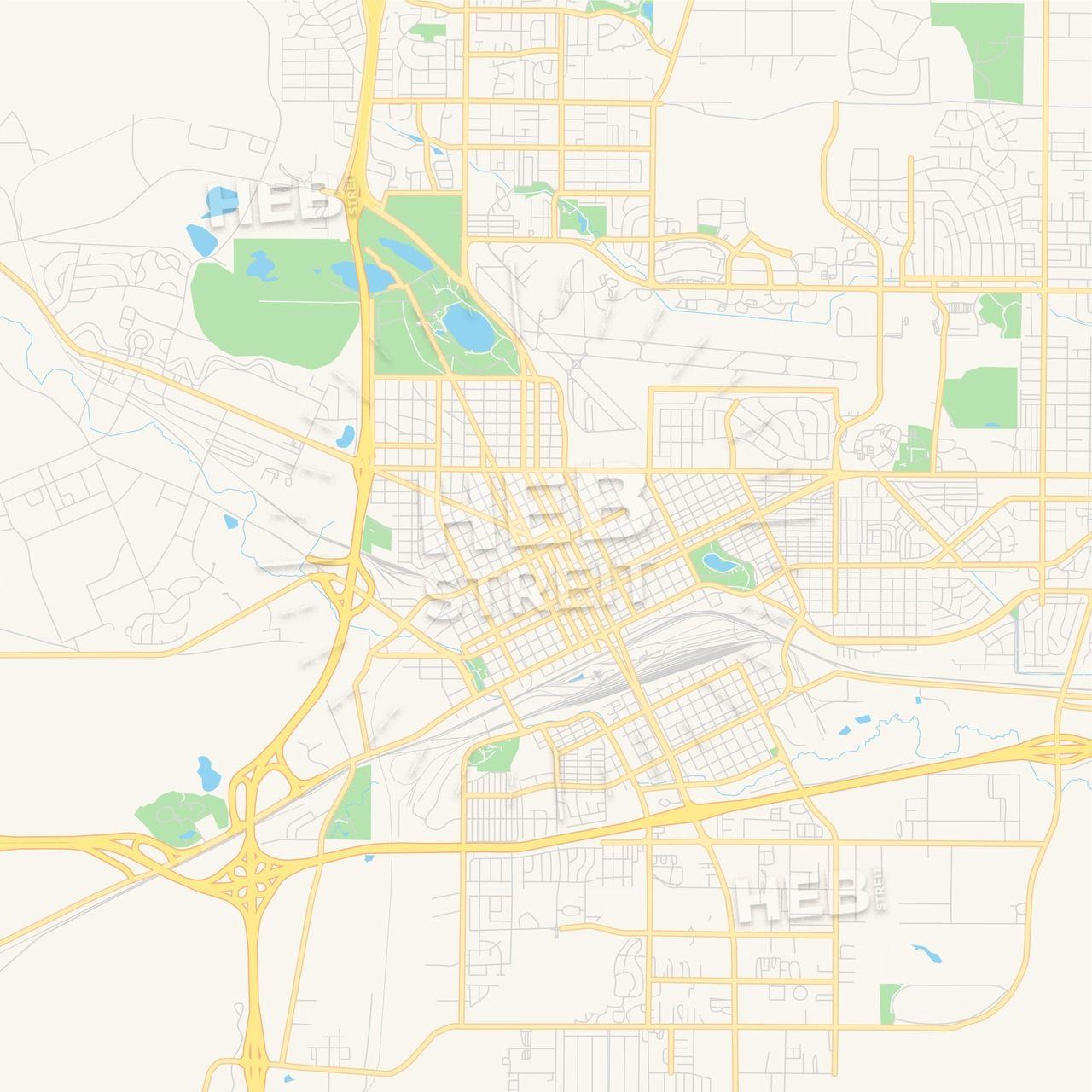 Empty vector map of Cheyenne, Wyoming, USA   Streit